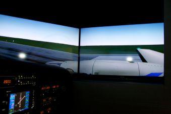 Aile droite du King Air 200, un turbopropulsé très utilisé dans le monde.